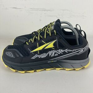 Altra Lone Peak 3.0 Mens Trail Running Shoes US 8 Black Yellow New + Free Post