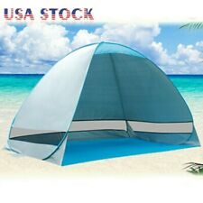 Beach Tent Portable Sun Shade Shelter Outdoor Camping Fishing Canopy Blue, Used