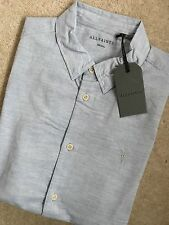 "ALL SAINTS LIGHT BLUE ""AVILA"" SHORT SLEEVE LOGO SHIRT TOP - XS S M L - NEW TAGS"