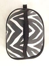 "Black White Stripe 4 3/4"" Wallet Pocket Purse - Klenex Tissue Holder"