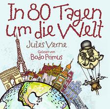 Audiolibro CD In 80 Giorni Um Die Mondo di Jules Verne Letto di Bodo Primus 2CDs