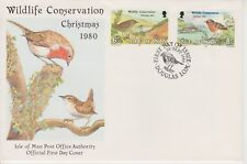 Unaddressed Isle of Man FDC First Day Cover 1980 Christmas Wildlife 10% off 5