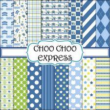 CHOO CHOO EXPRESS SCRAPBOOK PAPER -  15 x A4 pages
