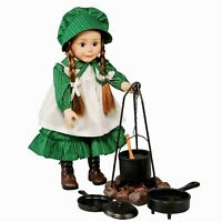 """Little House on Prairie Camp Cooking Set Fits 18"""" American Girl Doll Accessories"""