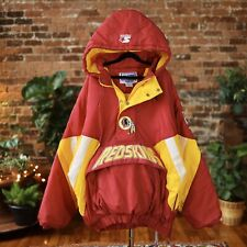90s VTG Washington Redskins Starter Jacket Hooded Pullover Anorak NFL XL