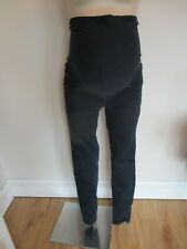 H&M MAMA MATERNITY INDIGO OVER BUMP SKINNY JEGGINGS JEANS SIZE M 12-14