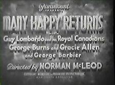 MANY HAPPY RETURNS 1934 Gracie Allen, George Burns