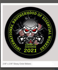 Brotherhood Of Essential Workers Hard Hat Stickers Ibew Uaw 2 Inch Decal