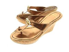 Apple Bottoms Thong Platform / Wedge Sandals Women's Size 8