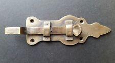 "Solid Friction Slide Gate Door Latch Cabin Retro Brass Fit Lock Hasp 4 3/4"" #X6"