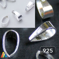 925 STERLING SILVER 8mm PENDANT BAILS WITH NARROWING Necklace Jewellery Findings