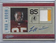 LEONARD HANKERSON 2011 ABSOLUTE WAR ROOM 2 COLOR PATCH AUTO RC #D 18/25