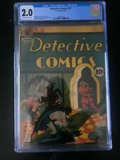 Detective Comics 52 CGC 2.0  Bob Kane!  Bill Finger!