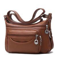 Women's Messenger Handbag Cross Body Soft Leather Shoulder Casual Luxury Bags
