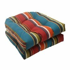 Westport Wicker Seat Cushion Great for Patio Furniture by Pillow Perfect - 2 Pcs