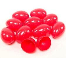 100 Empty Red Plastic Eggs Party Favors Bulk Wholesale