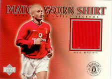 2002 UD Manchester United Legend Trading Card Jersey Card Wes Brown