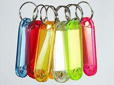 10 Schlüsselanhänger zum Beschriften Schlüsselschilder Anhänger m Etiketten Hart