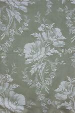 Vintage French TICKING fabric Art Deco 56 WIDE  floral damask YARDAGE bolt