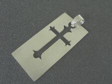 42 mm Edelstahl Kreuz Ketten Anhänger Gothic Kreuz