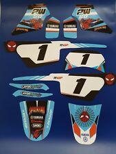 Kit Deco intégral moto cross YAMAHA PW 50 PW50 Qualité Premium Spiderman