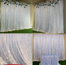 White Stage Wedding Party Backdrop Photography Background Drape Curtains 2 3 6 M
