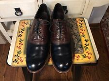 VINTAGE FootJoy Classics Dry Premiere Sz 15 A Golf Shoes Black Brown USA 50056