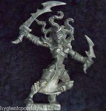 1999 DARK ELF WITCH 3 Citadel elven army drow Warrior warhammer PRIESTESS KHAINE