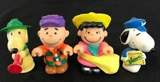 Lot of 4 vintage Peanuts Snoopy figures Charlie Brown Lucy Snoopy 1950 1966