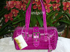 New With Tags Authentic Dooney & Bourke Nile Croco Doctor Orchid Bag Purse $325