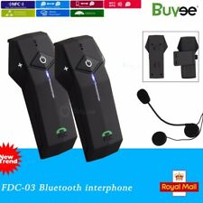 2x1000m Interphone NFC BT Bluetooth Motorbike Motorcycle Helmet Intercom Headset