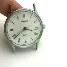 Quartz Vintage POLJOT White Round Dial Date USSR Men TESTED Classic Collectible