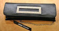 Pochette nera con swarosky ANNA CECERE