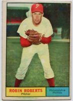 1961 Topps #20 Robin Roberts VG-VGEX Philadelphia Phillies FREE SHIPPING