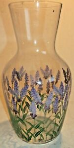 HANDPAINTED BLUEBELL THEMED    VASE- BEAUTIFUL PIECE.