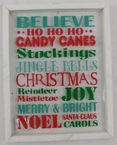 Ashland Merry Memories Christmas Wall Decor New Believe Glass Window Sign