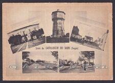 FOGGIA CASTELLUCCIO DEI SAURI 01a SALUTI da... VEDUTINE Cartolina viaggiata 1955