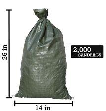 Sandbaggy 14x26 inch Poly Sandbags, Green - 500 Count