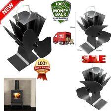 Wood Stove Fan Eco Heat Powered Blower 2 Blade Ultra Quiet Fire Log Burner KB