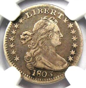 1803 Draped Bust Half Dime H10C - Certified NGC VF Details - Rare Date Coin!