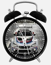 "BMW Race Car Alarm Desk Clock 3.75"" Home or Office Decor E264 Nice For Gift"