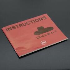Leica M4-2 Instructions Manual