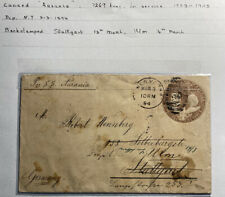 1894 New York USA SS Aurania Stationery Cover To Stuttgart Germany