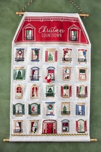 Anthropologie Advent Calendar Countdown Down To Christmas Rollup NWT