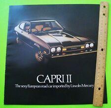 1977 MERCURY CAPRI II HUGE COLOR CATALOG Brochure 20-p w/ Capri 'S' & GHIA Xlnt+