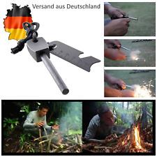 EDC Feuerstein Feuerstahl  Survival Fire Flint Feuerstarter Camping Outdoor