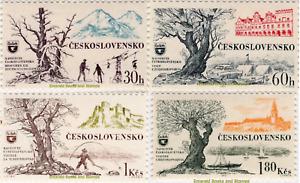 EBS Czechoslovakia 1964 - Tourism - Michel 1453-1456 MNH*