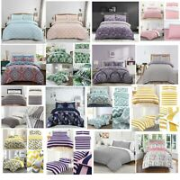 Duvet Cover Cotton Blend Bedding Set With Pillowcases Single Double King Size