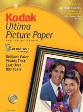 """Kodak 8110579 Ultima Photo Paper Glossy 8.5x11"""" 15 Sheets"""