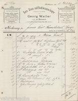 PA0036. GEORG WELLER, vorm. A. GLAUBRECHT, NORDHAUSEN. 4 Seiten Re. v 05.10.1905